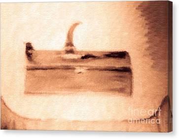 The Artist Pencil Box Impressionism Canvas Print by Debra Lynch