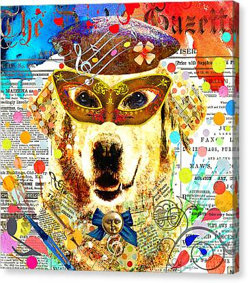 Animal Artist Canvas Print - The Artist by Stacey Chiew