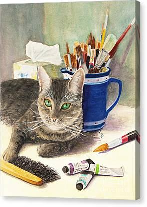The Artiste Canvas Print by Karen Fleschler