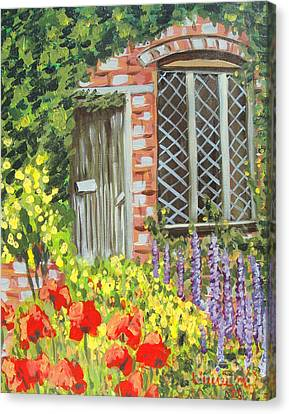 The Artist's Cottage Canvas Print by Laurie Morgan
