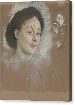 The Artist's Cousin, Probably Mrs. William Bell Canvas Print by Edgar Degas