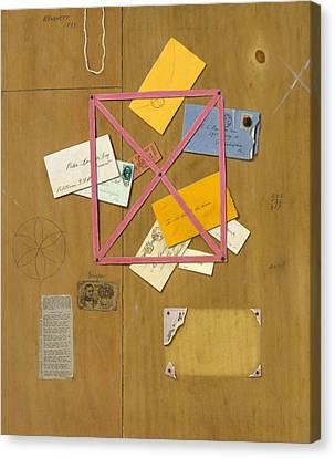 The Artist's Letter Rack Canvas Print