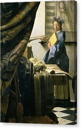 The Artists Studio Canvas Print by Jan Vermeer