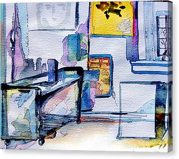 The Artists Studio Canvas Print by Mindy Newman