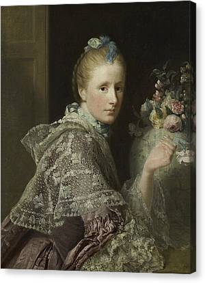 The Artist's Wife- Margaret Lindsay Of Evelick Canvas Print by Allan Ramsay