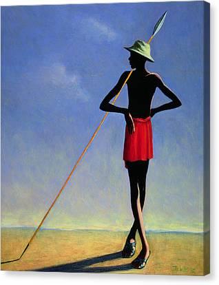 Javelin Canvas Print - The Askari by Tilly Willis