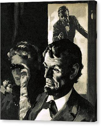 The Assassination Of Abraham Lincoln Canvas Print by English School