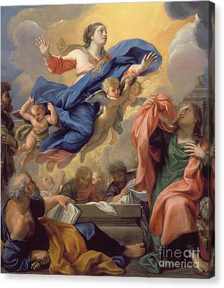 The Assumption Of The Virgin Canvas Print by Guillaume Courtois