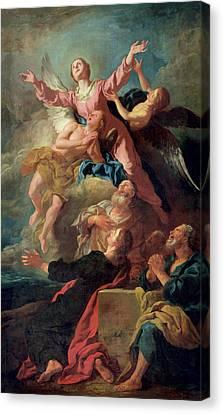 The Assumption Of The Virgin Canvas Print by Jean Francois de Troy