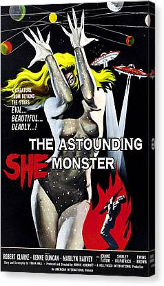The Astounding She-monster, 1-sheet Canvas Print by Everett