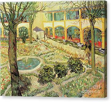 The Asylum Garden At Arles Canvas Print by Vincent van Gogh