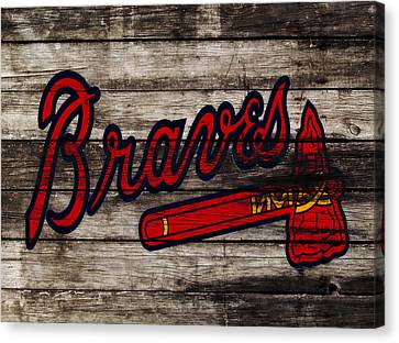 Baseball Park Canvas Print - The Atlanta Braves 3h    by Brian Reaves