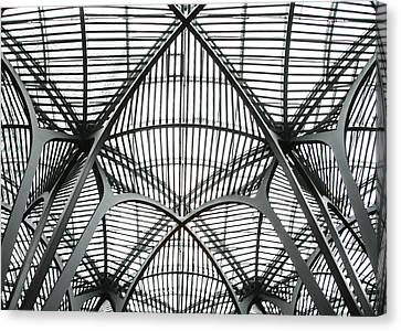 The Atrium At Brookfield Place - Toronto  Ontario Canada Canvas Print by Bill Cannon
