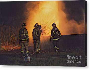 The Attack Canvas Print by Jim Lepard