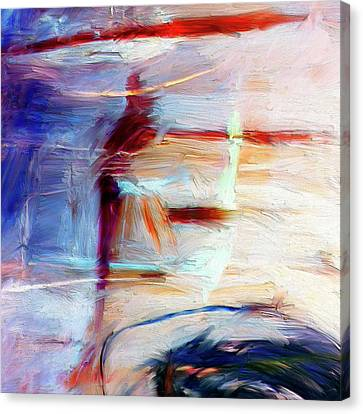 Canvas Print featuring the painting The Auberge by Dominic Piperata