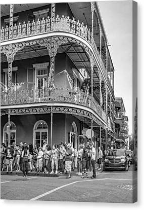 Wrought Iron Bicycle Canvas Print - The Audience Bw by Steve Harrington