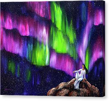 The Aurora Of Compassion Canvas Print by Laura Iverson