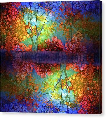 The Autumn Blues Reflected Canvas Print