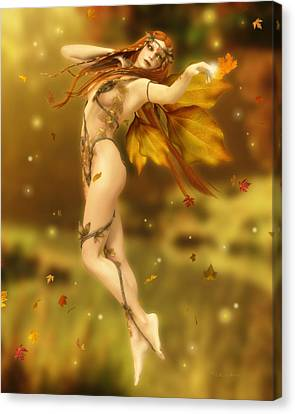 The Autumn Dance Canvas Print by Melissa Krauss