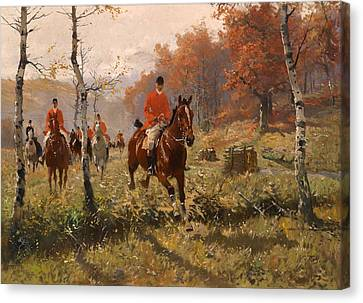 Clearing Canvas Print - The Autumn Hunt by Mountain Dreams