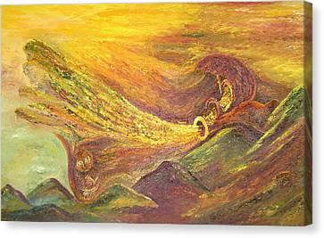 The Autumn Music Wind Canvas Print by Karina Ishkhanova