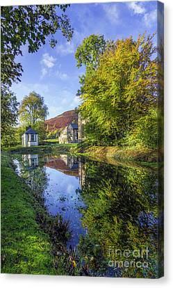 Canvas Print featuring the photograph The Autumn Pond by Ian Mitchell