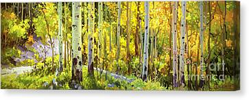 The Autumn Road..... Canvas Print