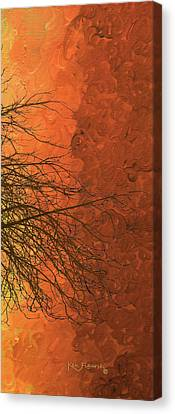 The Autumn Tree Triptych 3 Of 3 Canvas Print by Ken Figurski