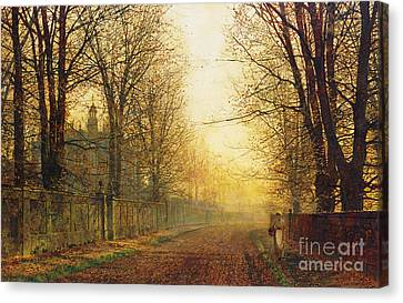 The Autumn's Golden Glory Canvas Print by John Atkinson Grimshaw