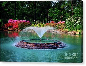 The Azalea Pond At Honor Heights Park Canvas Print