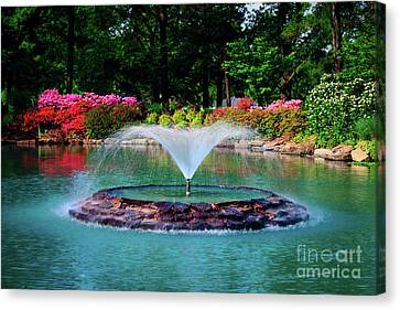 Canvas Print - The Azalea Pond At Honor Heights Park by Tamyra Ayles