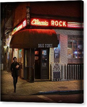 The Back Fence Bar Canvas Print by Lee Dos Santos
