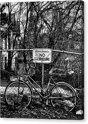 Canvas Print featuring the photograph The Bad Bicycle No 2 by Brian Carson