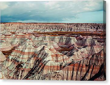 Terrain Canvas Print - The Badlands Of South Dakota I by Tom Mc Nemar