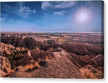 The Badlands Of South Dakota II Canvas Print by Tom Mc Nemar