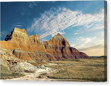 Terrain Canvas Print - The Badlands Of South Dakota by Tom Mc Nemar