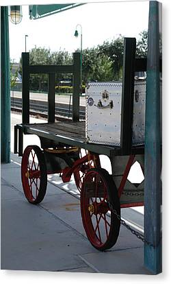 The Baggage Cart And Truck Canvas Print by Rob Hans