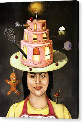The Baker Canvas Print by Leah Saulnier The Painting Maniac