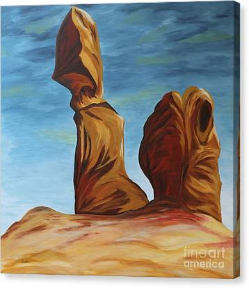 Canvas Print featuring the painting The Balanced Rock by Christiane Schulze Art And Photography