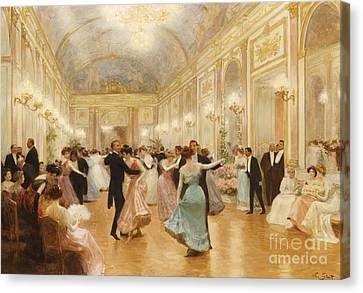 Interior Canvas Print - The Ball by Victor Gabriel Gilbert