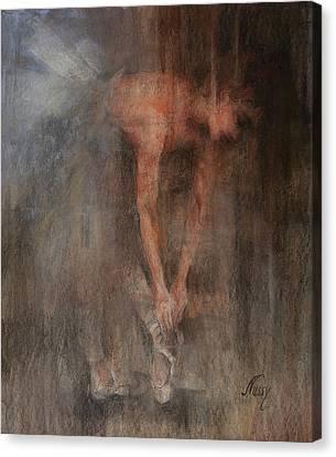 The Ballet Dancer Swan Lake Canvas Print by Elisabeth Nussy Denzler von Botha