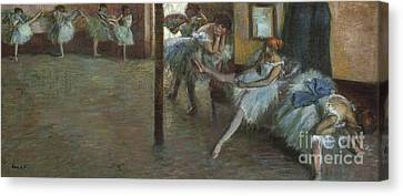 Behind The Scenes Canvas Print - The Ballet Rehearsal, 1891 by Edgar Degas
