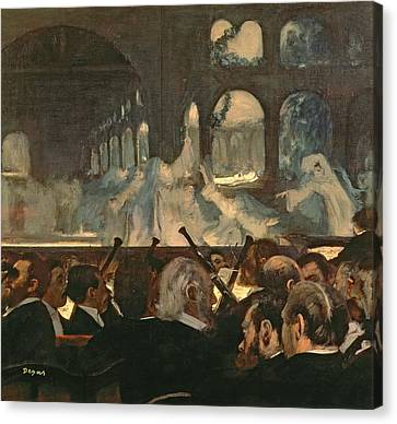 The Ballet Scene From Meyerbeer's Opera Robert Le Diable Canvas Print by Edgar Degas