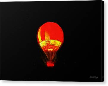 The Balloon At Night - Pa Canvas Print by Leonardo Digenio
