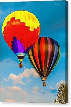 The Balloon Duet - Da Canvas Print by Leonardo Digenio