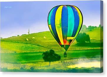 The Balloon In The Farm - Pa Canvas Print by Leonardo Digenio
