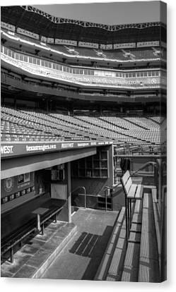 The Ballpark In Arlington Canvas Print by Ricky Barnard