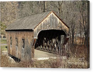 The Baltimore Covered Bridge - Springfield Vermont Usa Canvas Print by Erin Paul Donovan