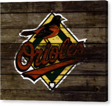 The Baltimore Orioles W1                          Canvas Print by Brian Reaves