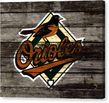 The Baltimore Orioles W2                          Canvas Print by Brian Reaves